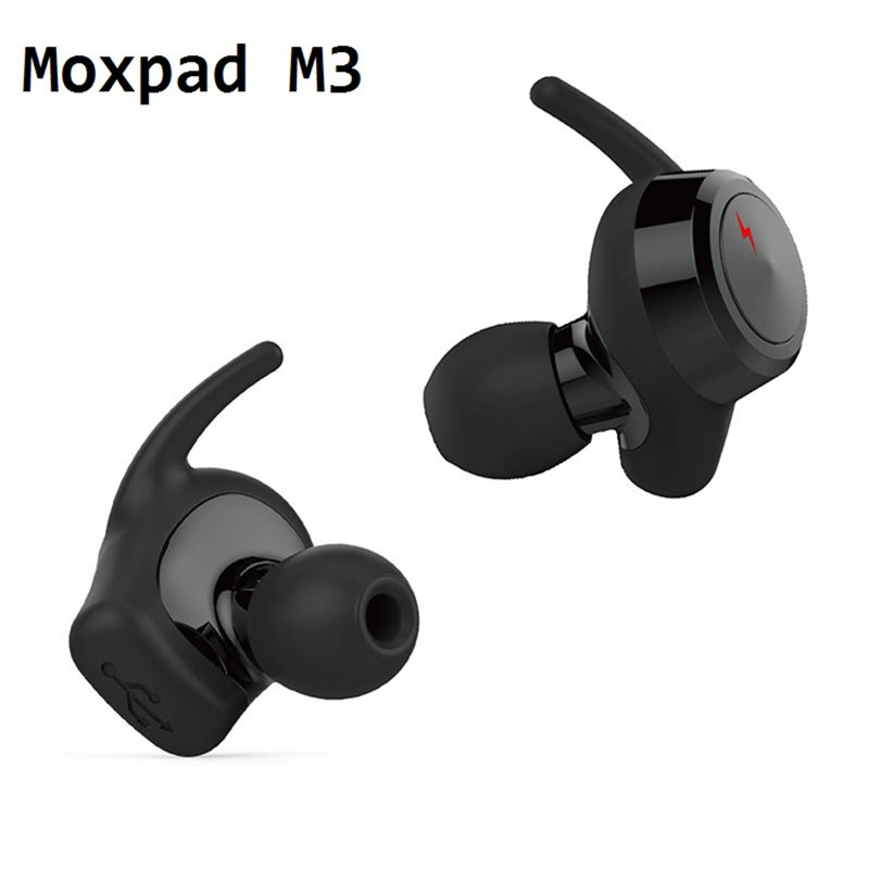 Moxpad M3 Wireless Earphones Dual Drivers Dynamic Bluetooth 4.1 TWS Earbuds Stereo Music Headsets with Retail Box Free Shipping