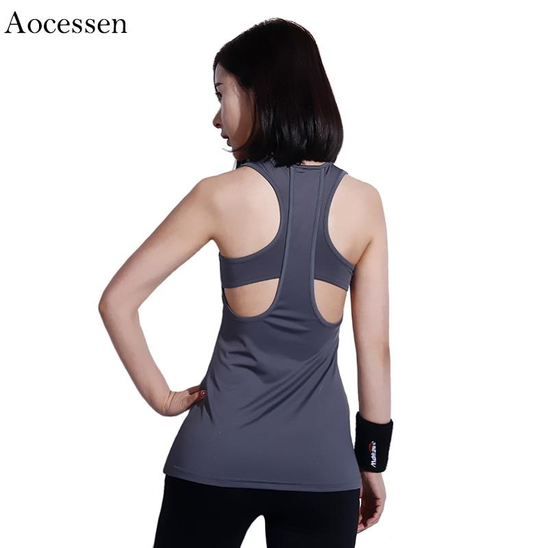 Aocessen Yoga Tops Gym Compression Vest Womens Sport T-shirt Top Dry Quick Running Short Sleeve Fitness Women Yoga t-shirts