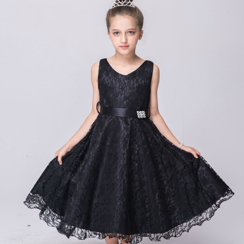 Fashion Princess Girls Dresses Birthday Party Dress for Girls Children Flower Lace Fancy Ball Gown Dress Clothes Kids Clothing