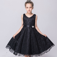 Fashion Princess Girls Dresses Birthday Party Dress For Girls Children Flower Lace Fancy Ball Gown Dress