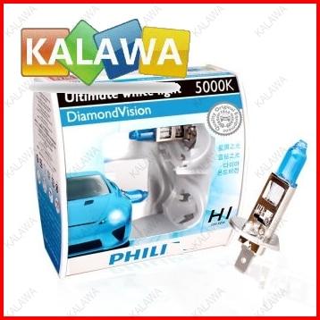 Genuine Case for PHILIPS brand item Blue Diamond Vision Original box packing with anti-fake mark H1 H3 H4 H7 H11 9005 9006