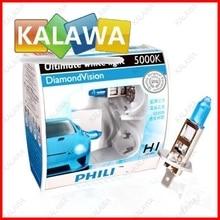 Véritable Cas pour PHILIPS marque point Bleu Diamant Vision boîte D'origine emballage avec anti-faux marque H1 H3 H4 H7 H11 9005 9006