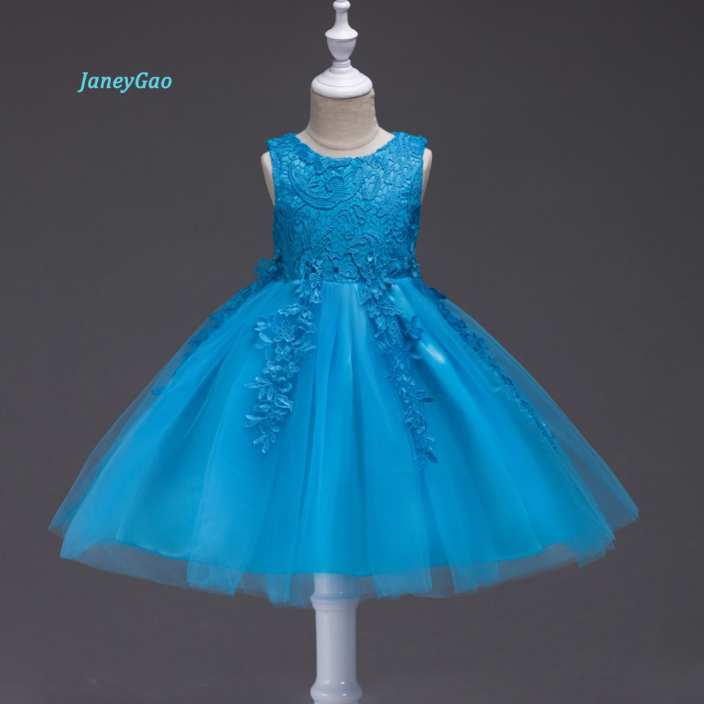 JaneyGao   Flower     Girl     Dress   For Wedding Party 2018 New Fashion Princess Little   Girl   Formal   Dress   Red Birthday Party Prom   Dress
