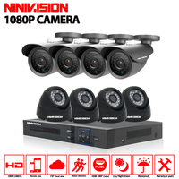 HD 8Channel Home Surveillance System 1920 1080P 8CH AHD DVR Kits 2 0MP 1080P 3000TVL CCTV