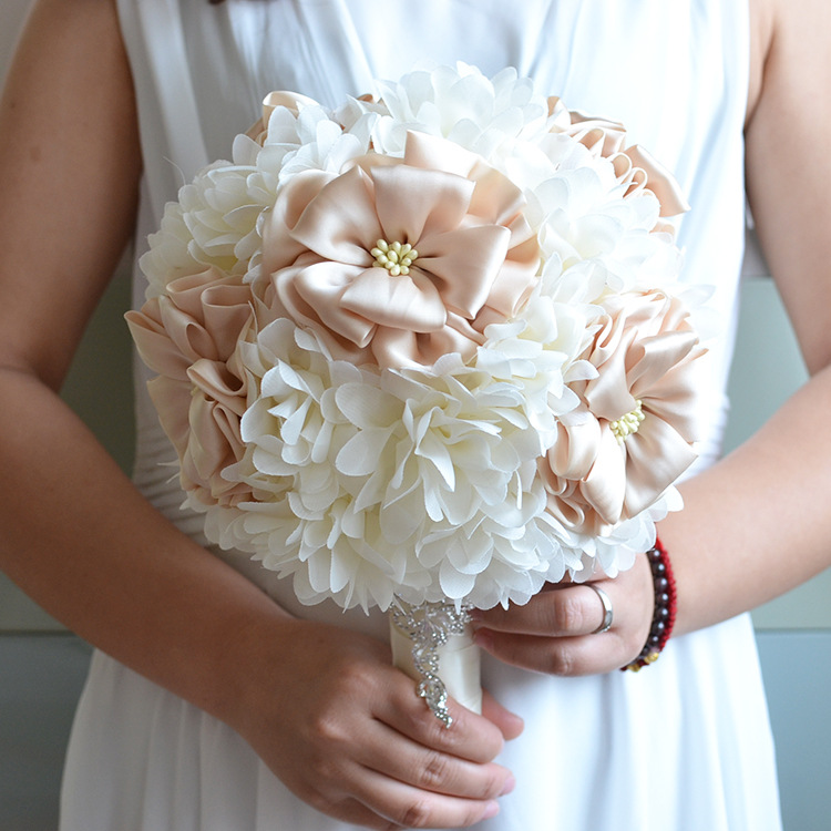 Wedding Bouquets Not Flowers: Eternal Angel 2018 New Ribbon Flower Bridal Bouquet