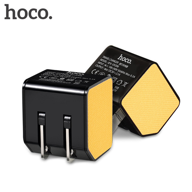 HOCO Universal 21W 4.2A Dual USB Charger Smart Wall Charger with Foldable Plug for iPhone iPad Samsung Huawei Xiaomi Tablet PC