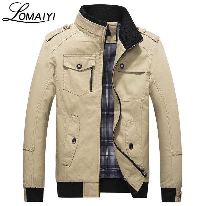 LOMAIYI Autumn Slim Mens Bomber Jacket