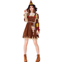 Deluxe Women The Wizard Of Oz Scarecrow Costume Cosplay Carnival Performance Party Suit Halloween Costumes For Adult