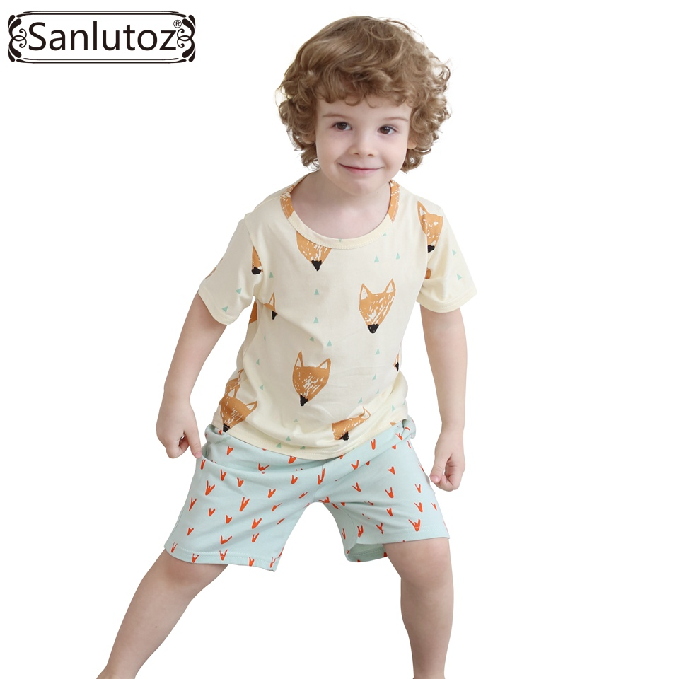 Kids Clothes Cotton Boys Set Summer Children Clothing Set Brand Sport Suits for Boys Toddler Baby (Tshirts + Shorts) 2016