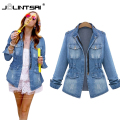 Female Plus Size 4XL 5XL Bomber Jacket Jaqueta Feminina Denim Jacket Women Washes Coat Spring Jeans Jacket Women Chaquetas Mujer