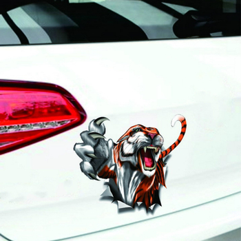 Aliauto Modified Car Sticker Tiger Totem Decal Decoration for BMW X1 X3 X5 1series 3series 5series 7series ///M Series Renault image
