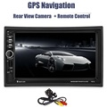 7021G 7 inch 2 Din Car Video Player DVD MP4 MP5 Player Bluetooth 1080P GPS Navigation FM Radio Remote Control with Rear Camera