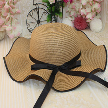 2019 New Ladies Sun Hat Straw Woven Wide-Brimmed Dome Casual Breathable Shopping Tourism Beach Sunscreen