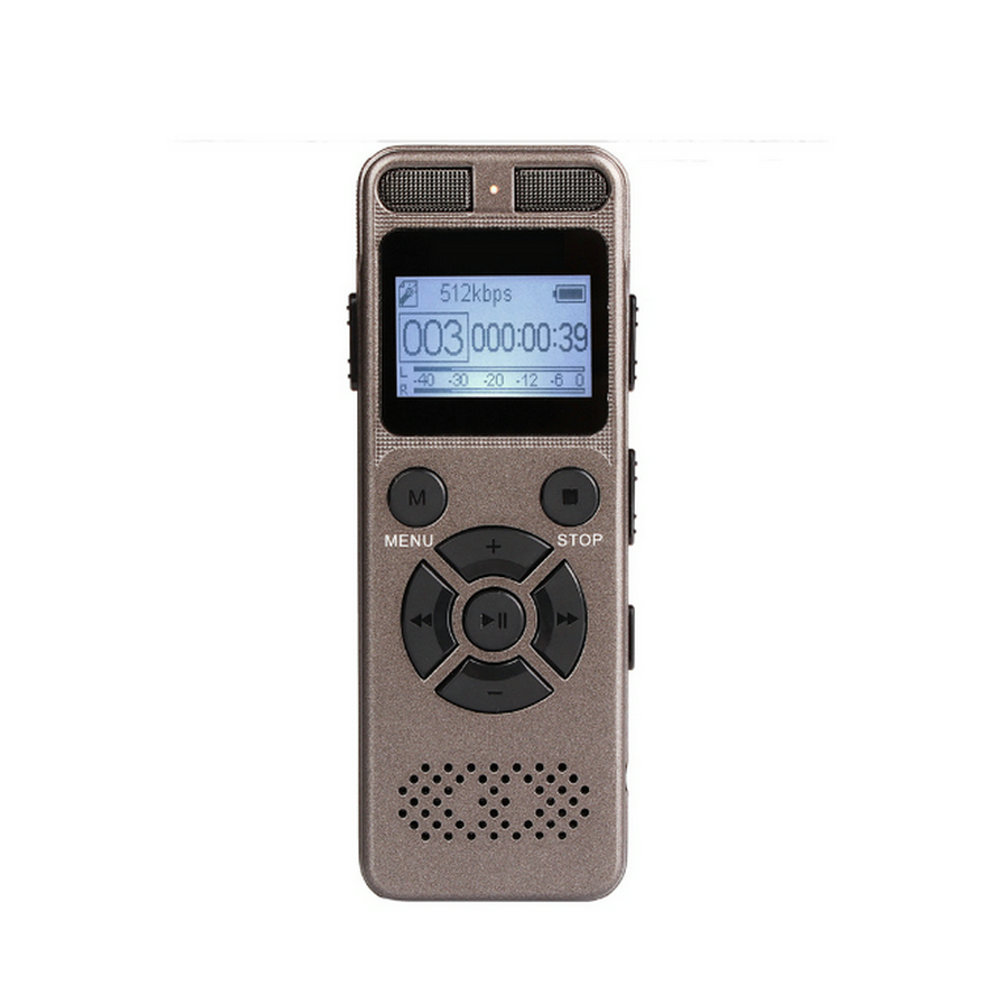 Ultra Long Time Voice Activated Recording HD Stereo Metal Portable Digital REC Recorder MP3 Dictaphone 1536kbps Gray V32