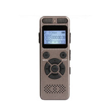 цена на Ultra Long Time Voice Activated Recording HD Stereo Metal Portable Digital REC Voice Recorder MP3 Dictaphone 1536kbps Gray V32