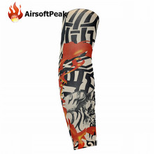 Nylon Stretchy Sunscreen Breathable Skull Skeleton Cuff Sleeves Cycling Hiking Running Arm Stockings UV Protective Arm Warmer