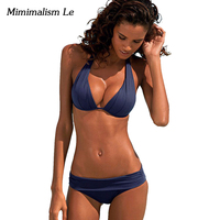 Minimalism Le Sexy Bikini 2017 New Women Swimsuit Push Up Bikini Set Beach Wear Retro Vintage