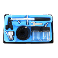 0.35mm Dual Action Spray Gun Airbrush Kit for Auto Paint Hobby Temporary Tattoo Manicure Makeup Cake Art Painting