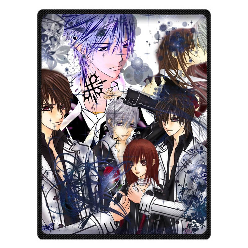 Vampire Knight Print Super Soft Manta Coral Flannel Blanket Bed Plane Travel Throw Blankets Baby Kids Bed Sheet
