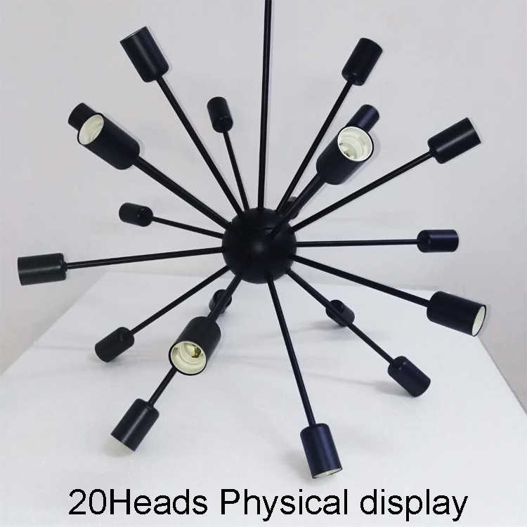 E27 Edison Lampen Vintage Industrielle Loft Anhänger Licht 12/16/18/20 Kopf Sputnik Anhänger LampAC110V 220 v Restaurant Bar Lichter
