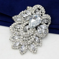 Star Jewelry Huge Size Elegant Clear Rhinestone Crystal Diamante Large Gift Bridal Brooch For Wedding & Party