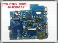 for Acer aspire 5738 5738G Laptop Motherboard 48.4CG08.011 MBP5601019 Motherboard JV50 MV DDR3 M92 MB tested working