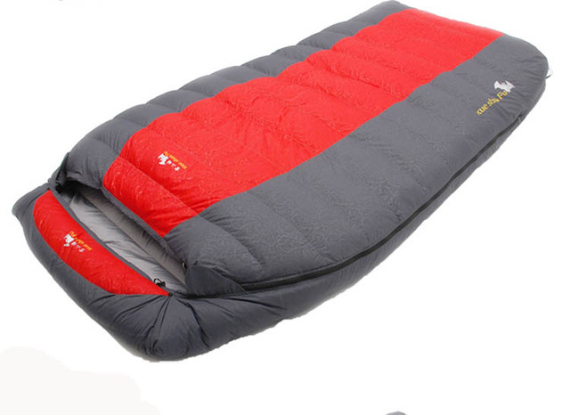 Cheap Ultralarge two person 5500g/6000g goose down filling comfortable camping sleeping bag