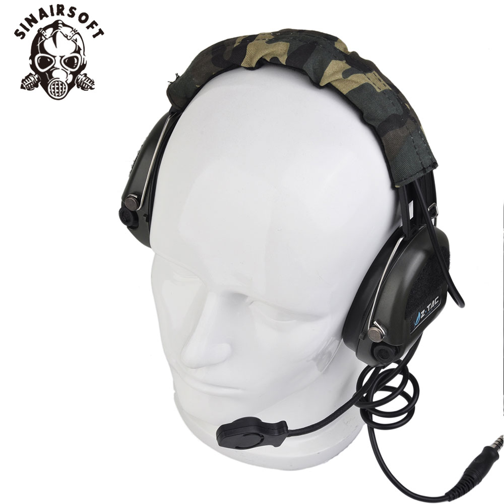 SINAIRSOFT Z111 Z tactical headset Official Version anti noise headset Sordin Two Way Radios Military Paintball