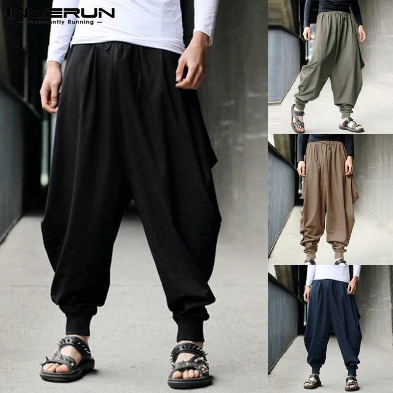 Man Pants drop crotch pants plus size pants Jog man Sweatpants loose pants Baggy Green Sweatpants Women green pants Harem pants