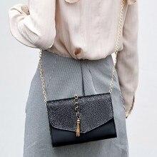 Bolsa Mujer Bags For Women 2019 Tassel  Handbags Women Bags Letter  PU Leather Shoulder Messenger Bag Chain sac a main 620 цена в Москве и Питере