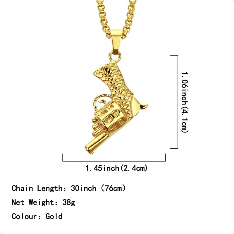 Хип-хоп ювелирные изделия Модные золотые длинные цепочки ожерелья для женщин и мужчин персонализированные буквы Орел молитвенный знак карта кулон ожерелье - Окраска металла: N052