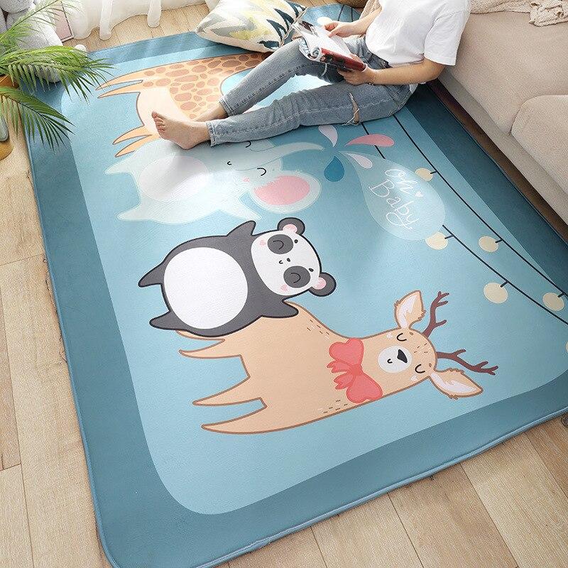 Tapis de flanelle pour salon bande dessinée bébé ramper tapis de jeu épaissir antidérapant enfants chambre tapis 200x150 cm