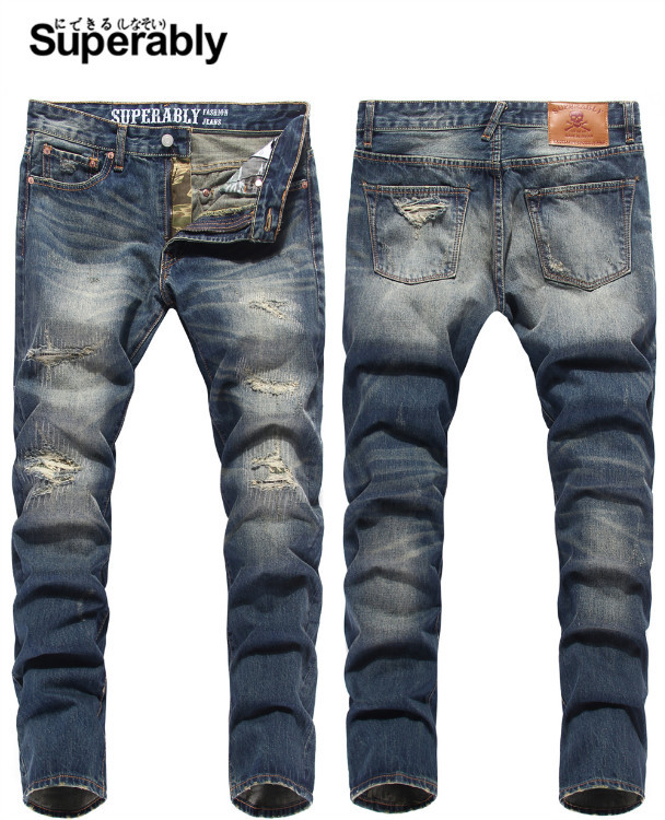 Online Buy Wholesale damaged jeans for men from China damaged ...