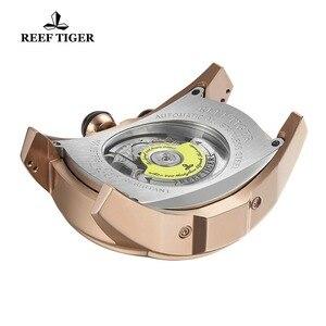 Image 5 - Reef Tiger/RT Đồng Hồ Cao Cấp Nam Tourbillon Analog Tự Động Dây Hoa Hồng Màu Vàng Thể Thao Đồng Hồ Đeo Tay Dây Đeo Cao Su RGA3069