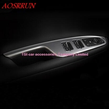 car styling ABS Door Armrest Panel Cover Trim Window Glass Lift Buttons Frame Modling Garnish For
