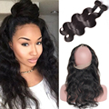 360 Lace Frontal With Bundles Mink Brazilian Hair Bundles With Closure Frontale 360 Brazilian Body Wave With Closure 360 Frontal