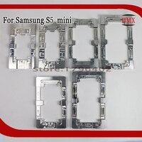 2 Adet Alüminyum Metal Samsung Galaxy S5 Mini Için hizalama Kalıpları telefon Değiştirin Sabit Kalıp Laminat OCA LCD UV Tutkal Kalıp cam