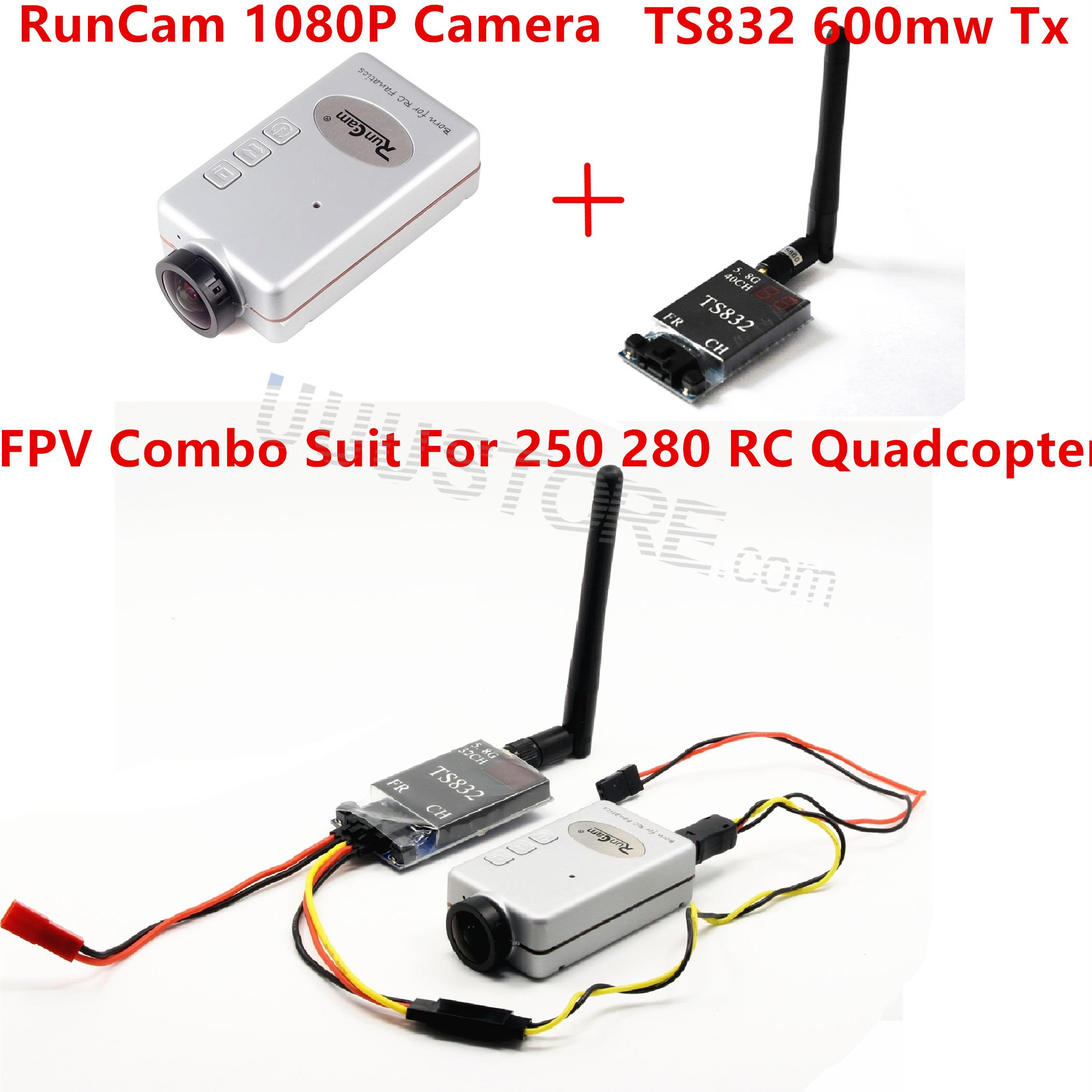 Mini FPV Combo with DVR RunCam 1080P TS832 Video Transmitter For Racing Drone QAV250 RC Quadcopter drone with camera rc plane qav 250 carbon frame f3 flight controller emax rs2205 2300kv motor fiber mini quadcopter