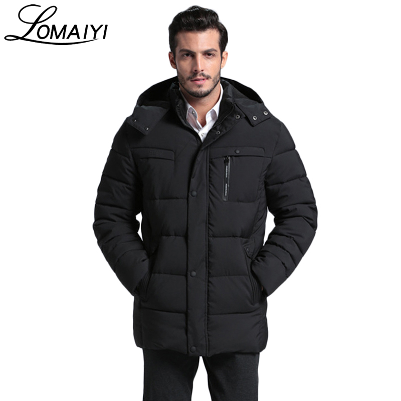 LOMAIYI Warm Thick Long Parka Men 2017 Winter Padded Jackets And Coats Army Green Mens Russian Snow Cotton Windbreaker,BM092