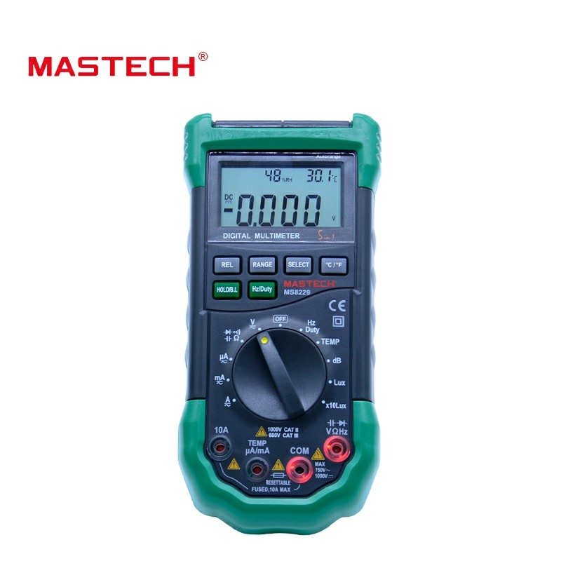 Mastech MS8229 5 in1 Auto range Digital Multimeter Multifunction Lux Sound Level Temperature Humidity Tester Meter 5 in 1 multifunction multimeter lux light tester sound level humidity thermometer meter 3999 counts max