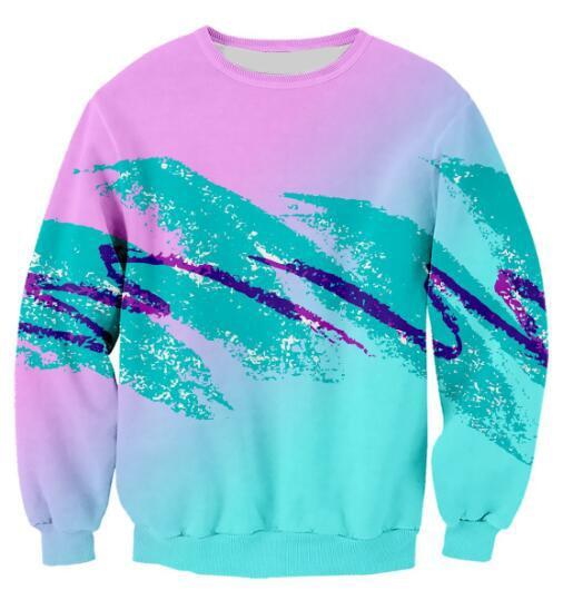 Jazz Pappbecher Sweatshirt 3D Print Pullover Langarm 90 S Unisex Jumper Frauen/Männer Rosa Grün Jumper Tops Tumblr Outfits S-5XL