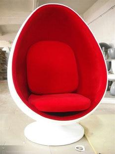 Eggshell Sharp Eye Ball Recliner Chair Designer Chairs Around Oval Bedroom  Villa Den Leisure Lounge Chair