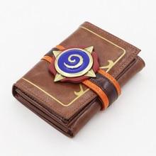 Stove 3D logo Orange wallet fireplace stone man wallet three fold leather credit card bag size 9cm*2cm*11cm three man 45