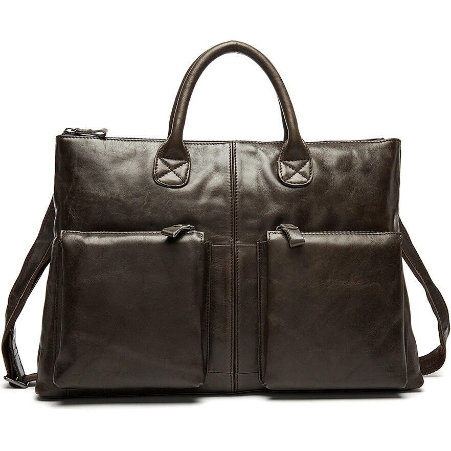 100% Genuine Leather Men Business Bag New Mens Briefcase Shoulder Crossbody Bags Men Travel Bag Hot Sale Man Messenger Bag Tote