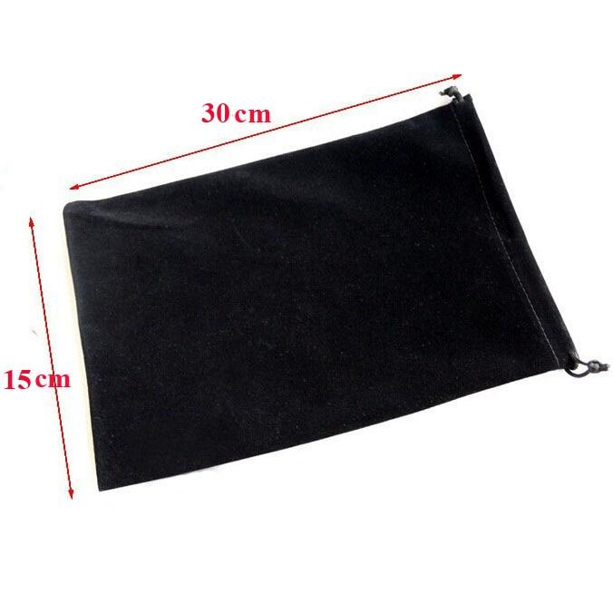 10pcs/lot Hot Sales 15x30 Cm Black/Blue/Rose/Red/Grey Big Size Drawstring Velvet Pouches Christmas Wedding Packaging Gift Bags