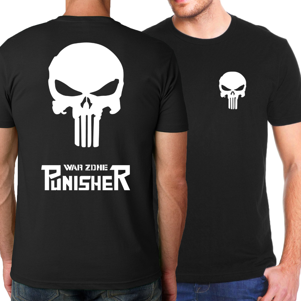 2017 Hot Summer The Punisher Hip Hop Hombre Camisetas Serie The Flash - Ropa de hombre - foto 1