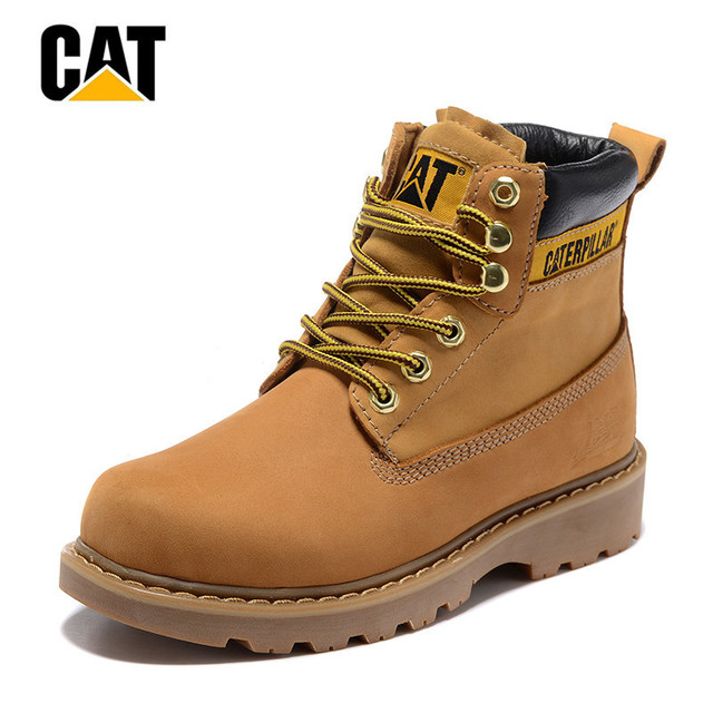 CAT Footwear Original Women Unisex Couple Genuine Cow Leather Work Casual  Safety Ankle Boots 91952e4a25