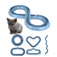 Funny Pet Cat Baby Track and Ball Toys Pet Suppliers Plastic Play Toy Training For Kitten Interactive 1 pcs Newest 2016