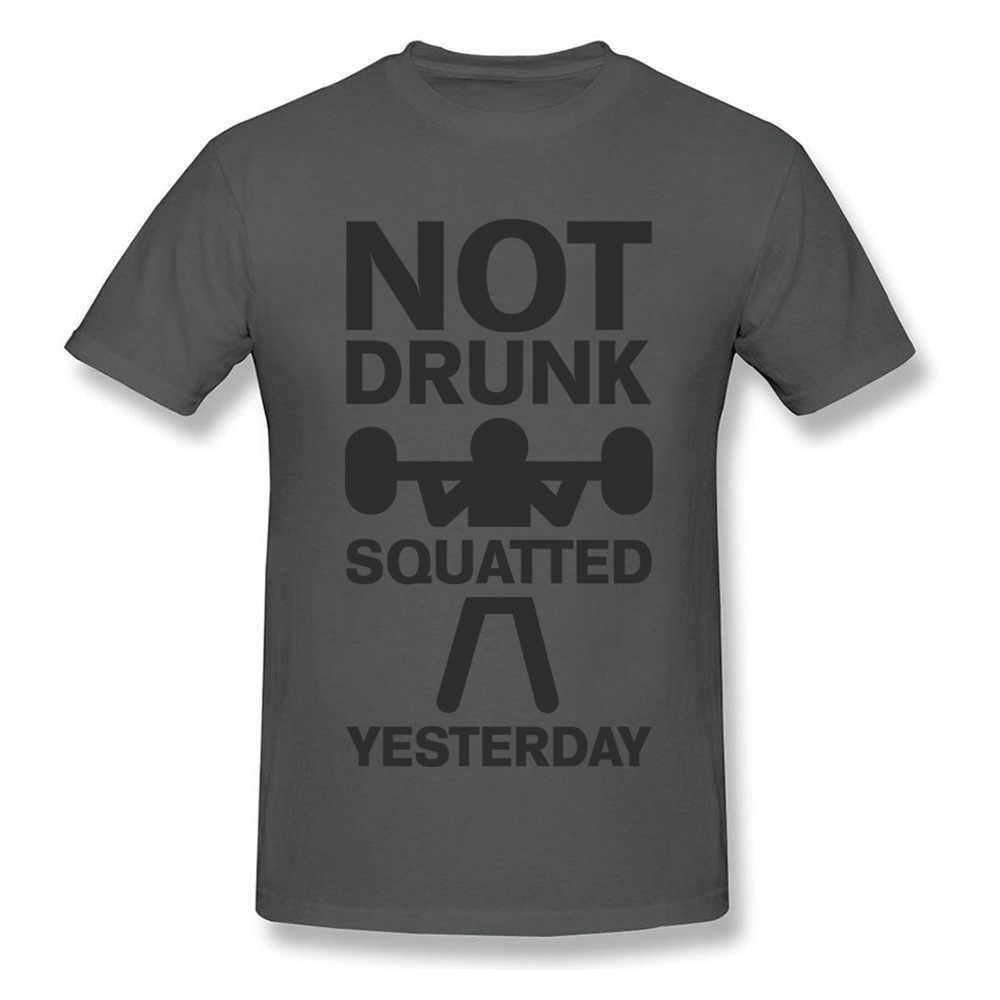 Mannelijke Ontwerp Top T-shirts Merk Crewneck Niet Dronken Hurkte Gisteren 100% Katoen Mannen Tops T-shirt Crazy Losse Top T-shirts