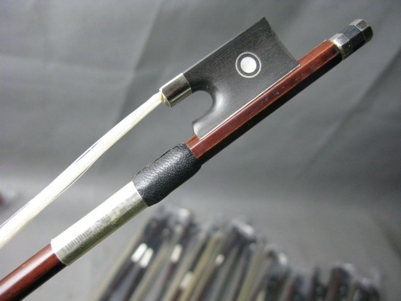 Violino Arcos Brazilwood 4 – Aluno Arco Ébano Sapo 3 Pçs